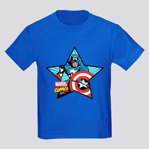 Captain America Star Kids Dark T-Shirt