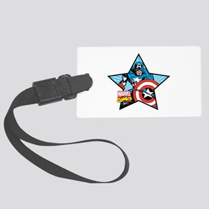 Captain America Star Large Luggage Tag