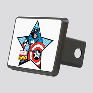 Captain America Star Rectangular Hitch Cover