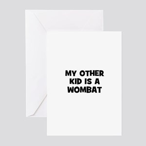 my other kid is a wombat Greeting Cards (Package o
