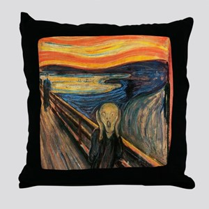 The Scream - Der Schrei der Natur Throw Pillow