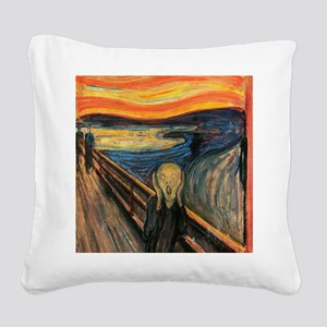 The Scream - Der Schrei der N Square Canvas Pillow