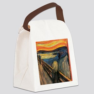 The Scream - Der Schrei der Natur Canvas Lunch Bag
