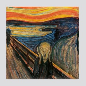 The Scream - Der Schrei der Natur Tile Coaster