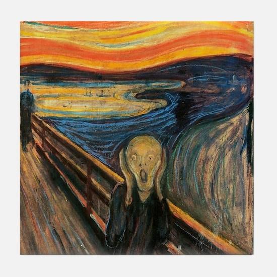 The Scream - Der Schrei der Natur Tile Coaster