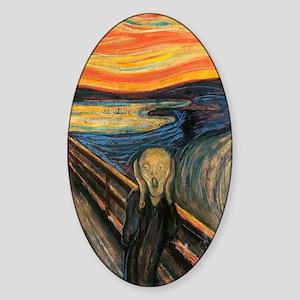 The Scream - Der Schrei der Natur Sticker (Oval)