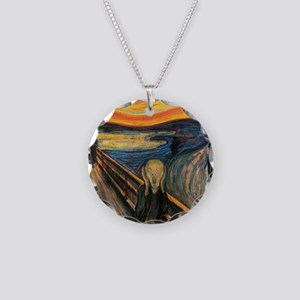 The Scream - Der Schrei der  Necklace Circle Charm