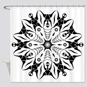 Opposing Positions Shower Curtain