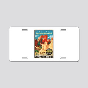 Bryce Canyon Vintage Art Aluminum License Plate