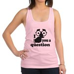 I mustache you a question Racerback Tank Top