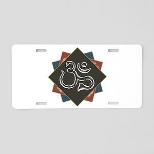Classic Om Symbol Aluminum License Plate