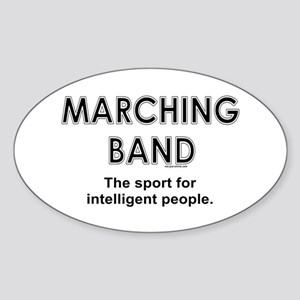 Marching Band Oval Sticker