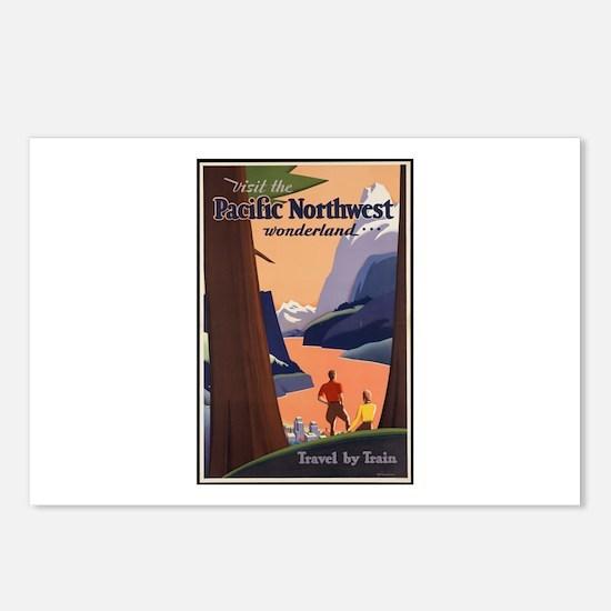 Pacific Northwest Vintage Art Postcards (Package o