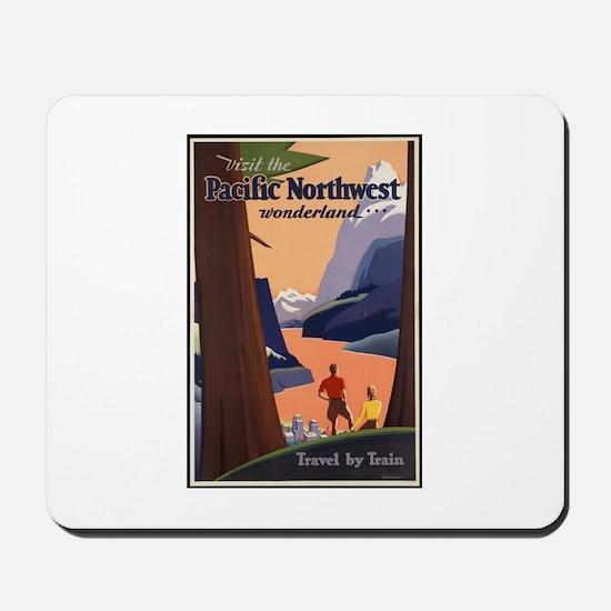 Pacific Northwest Vintage Art Mousepad