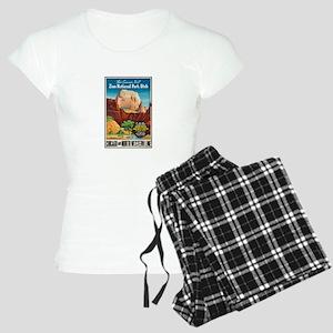 Zion National Park Vintage Art Pajamas