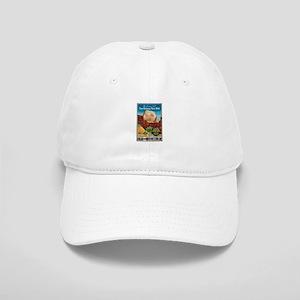Zion National Park Vintage Art Baseball Cap