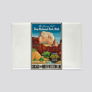 Zion National Park Vintage Art Magnets