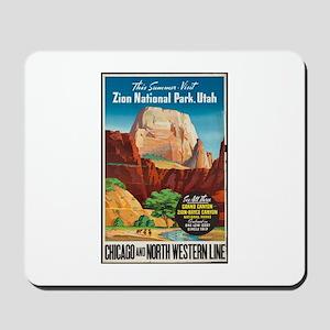 Zion National Park Vintage Art Mousepad