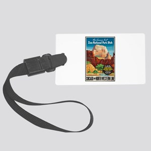 Zion National Park Vintage Art Luggage Tag
