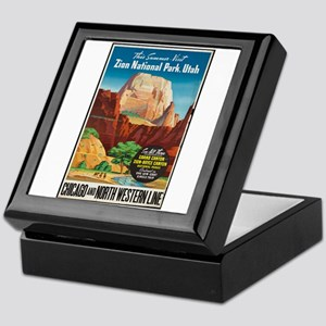 Zion National Park Vintage Art Keepsake Box
