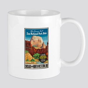 Zion National Park Vintage Art Mugs