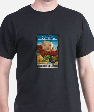 Zion National Park Vintage Art T-Shirt