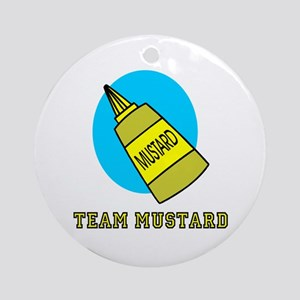 Team Mustard Ornament (Round)