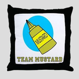 Team Mustard Throw Pillow