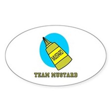 Team Mustard Oval Sticker