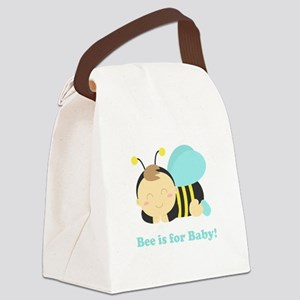 sleeping-baby-bee-cafepress Canvas Lunch Bag