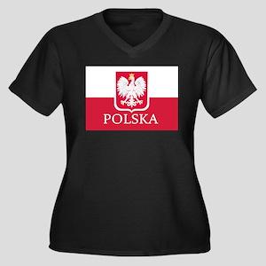 Polska Polish Flag Plus Size T-Shirt