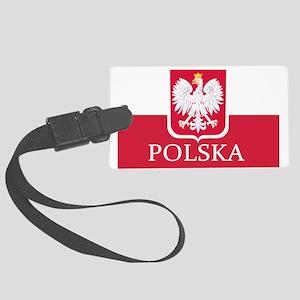 Polska Polish Flag Luggage Tag