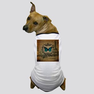 vintage paris eiffel tower butterfly jubilee Dog T