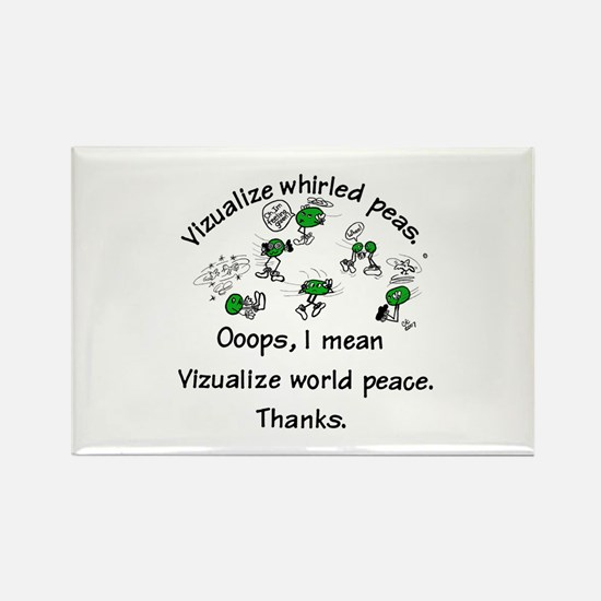 Whirled Green Peas Rectangle Magnet
