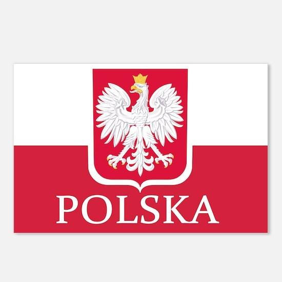 Polska Polish Flag Postcards (Package of 8)