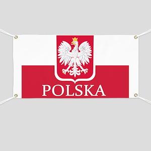 Polska Polish Flag Banner