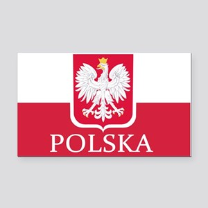 Polska Polish Flag Rectangle Car Magnet