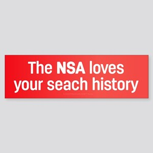 The NSA Loves Bumper Sticker