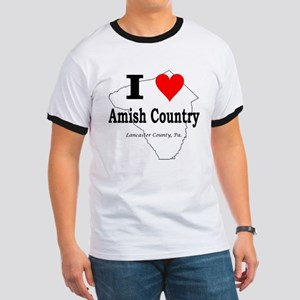 I Love Amish Ringer T