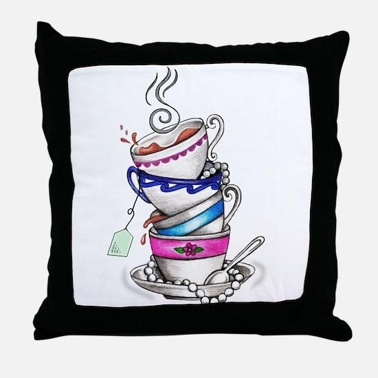 Tea for Four Throw Pillow