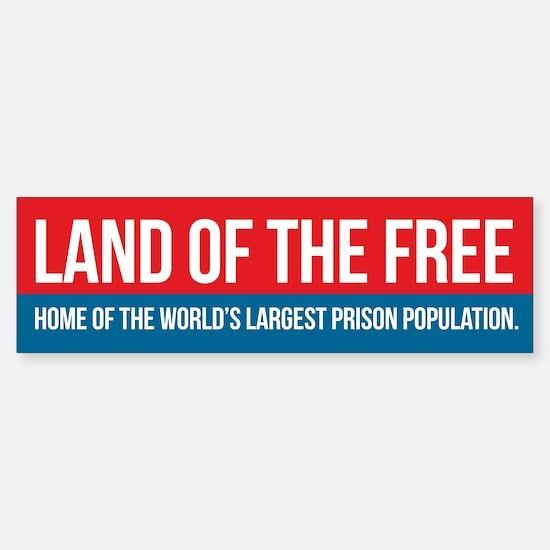 Land of the Free Bumper Bumper Bumper Sticker