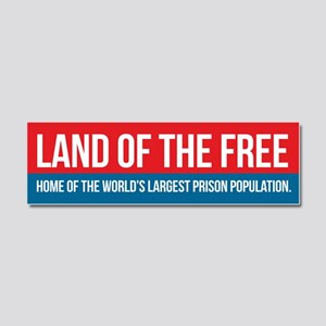 Land of the Free Car Magnet 10 x 3