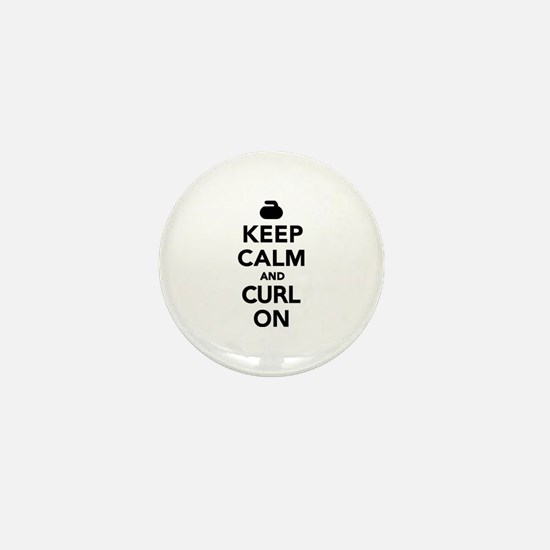 Keep calm and curl on Mini Button