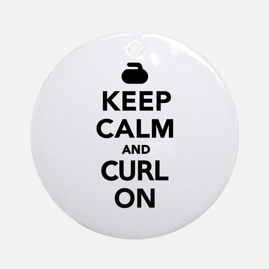 Keep calm and curl on Ornament (Round)