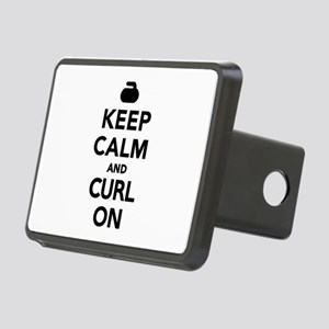 Keep calm and curl on Rectangular Hitch Cover