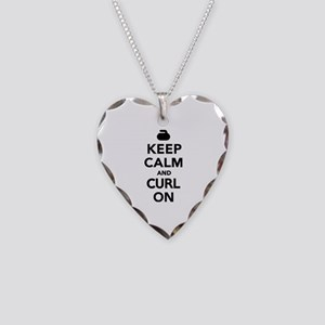 Keep calm and curl on Necklace Heart Charm