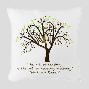 The Art Of Teaching Woven Throw Pillow