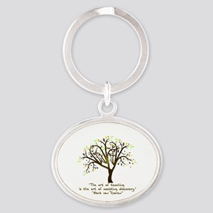 The Art Of Teaching Oval Keychain