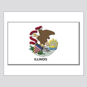 Illinois Flag Small Poster