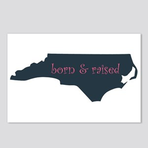 NC Born & Raised Postcards (Package of 8)